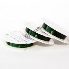 Проволока для бисероплетения в катушке, зеленая, 0,25 мм, 10 м