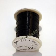 Проволока для бисероплетения 0,3 мм, цвет черный, 10 м