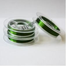 Проволока медная цветная 0,3 мм, цвет зеленый, 10 м