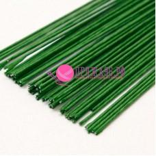 Проволока герберная 1,2 мм 36 см, цвет зеленый