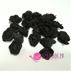 Роза черная из фоамирана