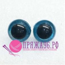 Глазки для игрушек 20 мм, голубые перламутровые на шурупе