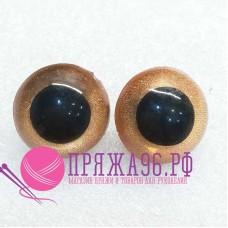 Глазки для игрушек 16 мм, оранжевые перламутровые шурупе