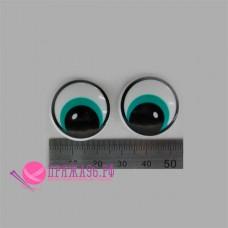 Глазки на ножке 25 мм, цвет зеленый