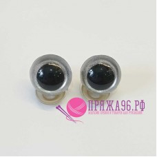 Глазки для игрушек 16 мм, серые перламутровые шурупе