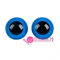 Глазки для игрушек 22 мм, голубые на шурупе