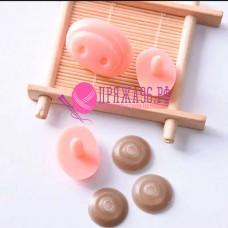 Носик-пятачок 26х19 мм розовый с крепежом для свинки