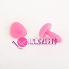Носик бархатный на винте с крепежом, 20х15 мм, цвет розовый