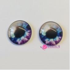 Живые глазки 16 мм, цвет №10, стекло, клеевые