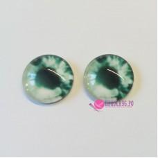 Живые глазки 12 мм, цвет №11, стекло, клеевые