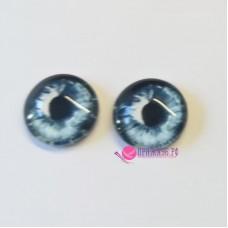 Живые глазки 12 мм, цвет №13 синий, стекло, клеевые