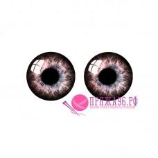 Живые глазки 14 мм, цвет №17, стекло, клеевые
