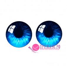 Живые глазки 14 мм, цвет №18, стекло, клеевые