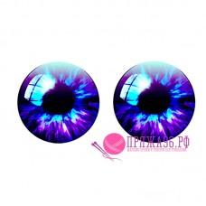 Живые глазки 14 мм, цвет №19, стекло, клеевые