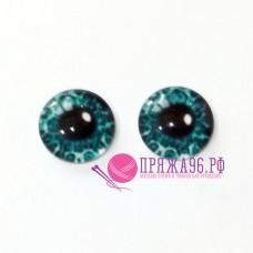 Живые глазки 12 мм, цвет №1, стекло, клеевые