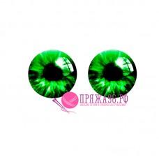 Живые глазки 14 мм, цвет №20, стекло, клеевые