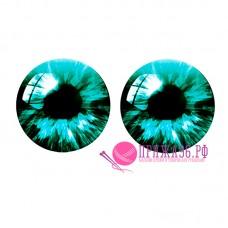 Живые глазки 14 мм, цвет №21, стекло, клеевые