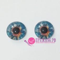 Живые глазки 10 мм, цвет №2, стекло, клеевые