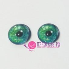 Живые глазки 8 мм, цвет №3, стекло, клеевые