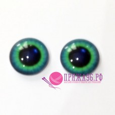 Живые глазки 12 мм, цвет №5, стекло, клеевые