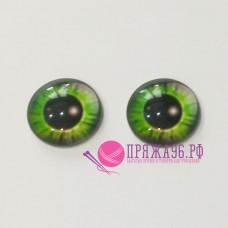 Живые глазки, цвет №6, 16 мм, стекло, клеевые