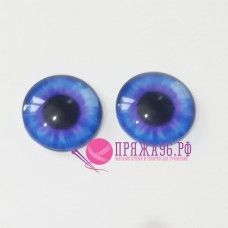 Живые глазки 16 мм, цвет №7, стекло, клеевые