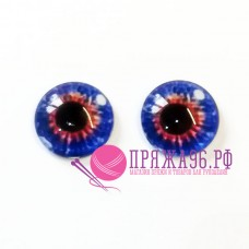 Живые глазки 12 мм, цвет №8, стекло, клеевые