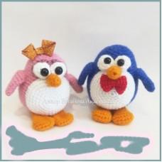 Вязаная игрушка Парочка пингвинов