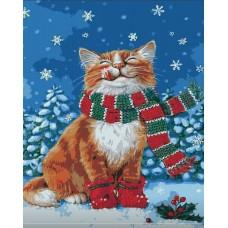 Картина по номерам - Счастливый котик 40х50см