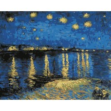 Картина по номерам - Звездная ночь над Роной 40х50см