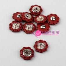 Кнопки пришивные декоративные, d = 16 мм, цвет коричневый