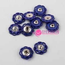 Кнопки пришивные декоративные, d = 17 мм, цвет синий