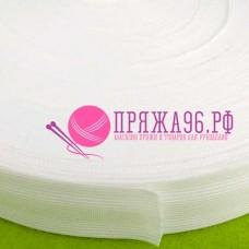 Лента окантовочная, цвет белый 18 мм