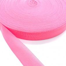 Лента окантовочная, цвет розовый, 33 мм