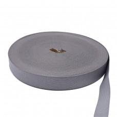 Лента окантовочная, цвет серый, 33 мм