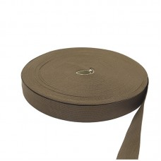 Лента окантовочная, цвет темно-бежевый, 33 мм