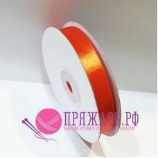 Атласная лента, 12 мм, №8030 морковный