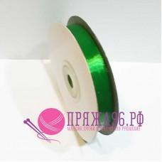 Атласная лента, 12 мм, №8087 зеленый