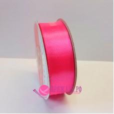 Атласная лента, 25 мм, №040, цвет розовый неон