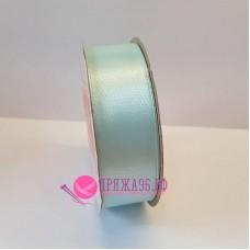 Атласная лента, 25 мм, №162, цвет светло-бирюзовый
