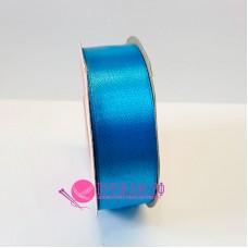 Атласная лента, 25 мм, №165, цвет темная голубая бирюза