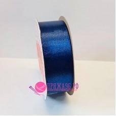 Атласная лента, 25 мм, №174, цвет темно-синий