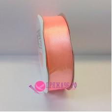 Атласная лента, 25 мм, №8036, цвет розовый персик