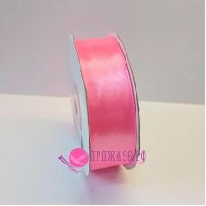Атласная лента, 25 мм, №8039, цвет ярко-розовый
