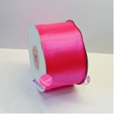 Атласная лента, 50 мм, цвет №040 ярко-розовый