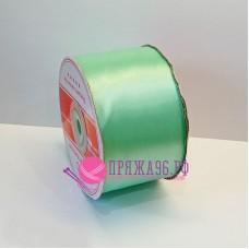 Атласная лента, 50 мм, цвет №110 мята