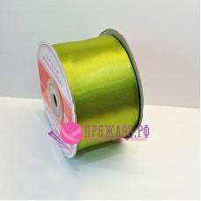 Атласная лента, 50 мм, цвет №146 фисташка