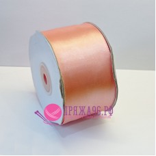Атласная лента, 50 мм, цвет №8028 персик
