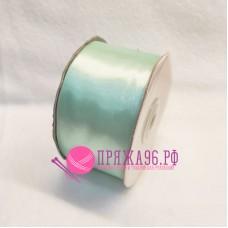 Атласная лента, 50 мм, цвет №8064 светло-бирюзовый