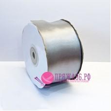 Атласная лента, 50 мм, цвет №8139 серебро